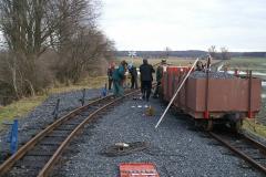 Stavba trati směr mlýnek