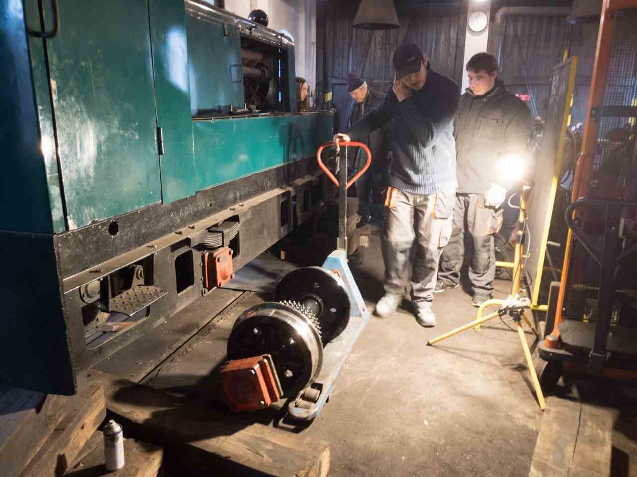 Oprava lokomotivy BNE 50